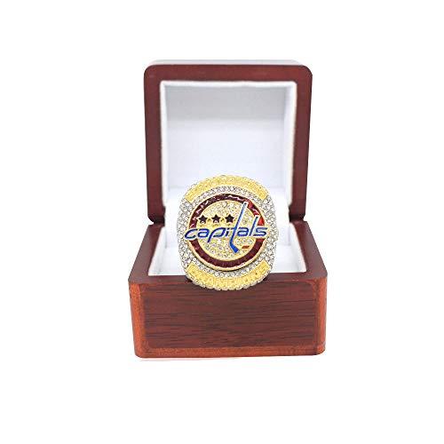 ONEBUYONE Memorial Sammler Ring, 2018 Washington Capitals Stanley Cup-Hockey-Fan Replica Ring Freund Größe 9-13,B,9