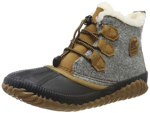 Sorel - Youth Out N About Plus Waterproof Winter Boot for Kids, Quarry, Camel Brown, 6 M US