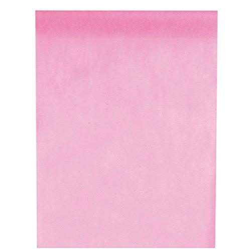 Vlies-Stoff 30cm (25m lang) Tischläufer Deko-Vlies Party Hochzeits-Dekoration (rosa)