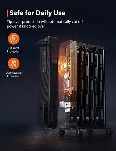 TaoTronics 1500W Oil Filled Radiator