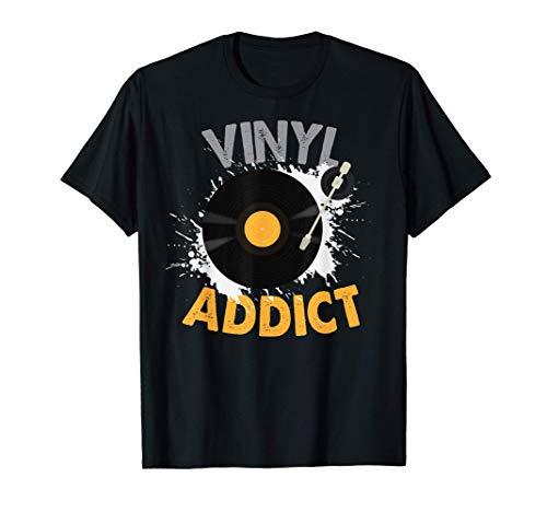 Schallplatte Vinyl Addict - Plattenspieler DJ LP EP Musik T-Shirt