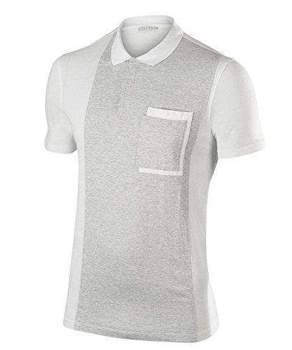 FALKE Herren, Polo Alassio Poloshirt Leinen-/Baumwollmischung, 1 er Pack, Weiß (White 2860), Größe: XXL