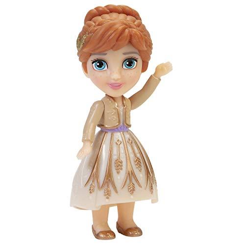 Disney Frozen II Princesa Mini muñeca Poseable 7.6 cm (Anna Gold Dress)