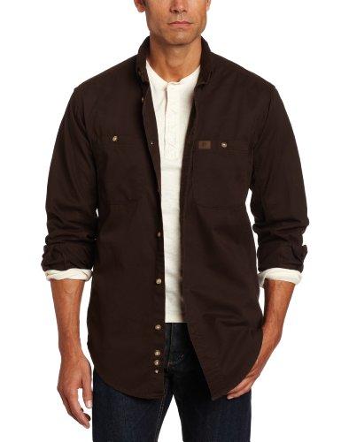 Wrangler Riggs Workwear Men's Logger Shirt,Dark Brown,X-Large/Regular