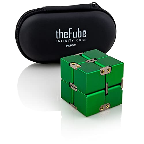 PILPOC theFube Infinity Cube Fidget Desk Toy - Premium Quality Aluminum Infinite Magic Cube with...