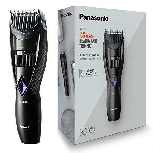 Panasonic ER-GB37 Wet & Dry Electric Beard Trimmer for Men with 20 Cutting Lengths, Standard UK 3pin plug