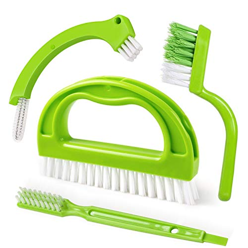 LivingampGiving Grout Brush 4 in 1 Grout Cleaner Brush Tile Joint Scrub Brush With Handle Stiff Cleaning Brush for All of the Household Such as ShowerBathroom Kitch Seams Floor Lines