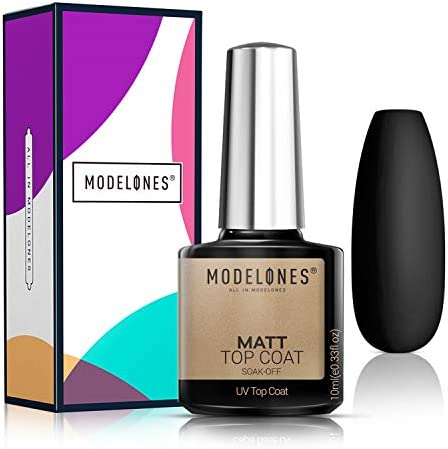 Matte Gel Top Coat LED Soak Off Gel Nail Polish Kit Matte Finish and Long Lasting No Wipe Matte product image