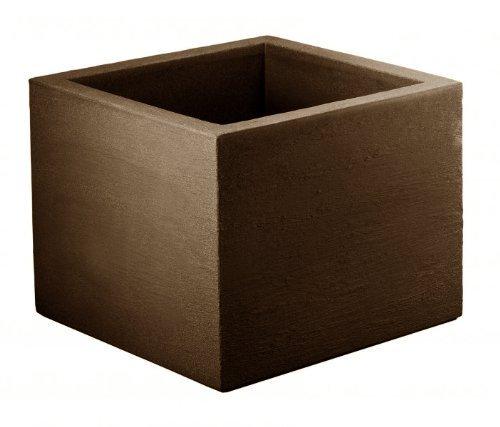 geli Thermo Plastic Lippert Pflanzkübel Kubus Quadrat ca. 50 x 50 x 42 cm Rostbraun