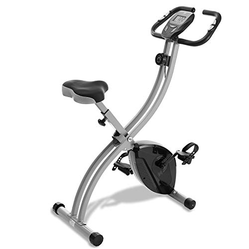 Node Fitness Indoor Cycling Bike - Folding, Upright Stationary Exercise Cycle with Magnetic Resistance