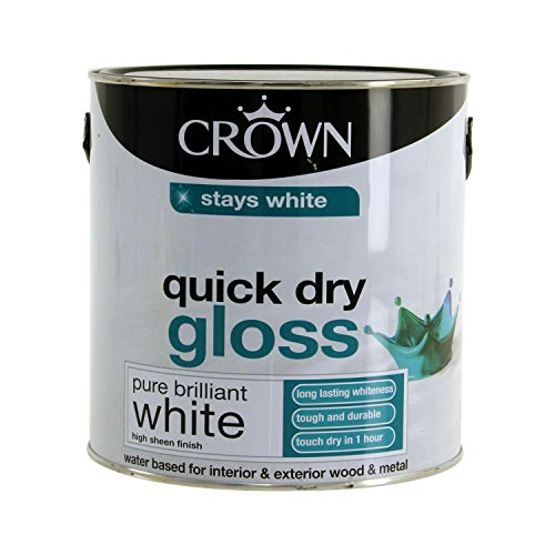 Crown Quick Dry Gloss 2.5L Pure Brilliant White...