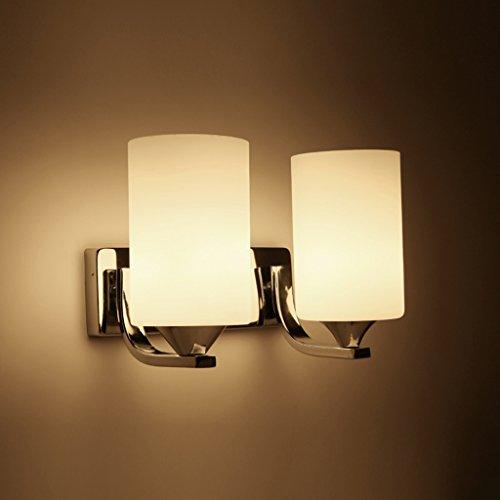 Lampe De Table En Verre En Acier Inoxydable (style : B)