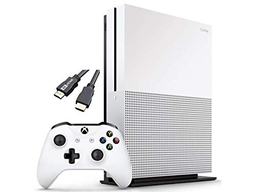 Microsoft Classic Original Xbox One S 1TB HDD with 4K Blu-ray DVD Reader, One Wireless Controller Included,1-Month Game Pass Trial, 14-Day Xbox Live Gold + AllyFlex USB Cable