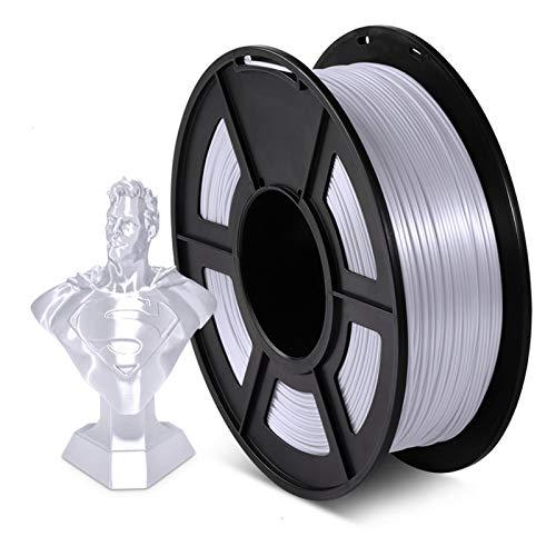 YANGDONG 1kg (2.2 £) Seide-PLA-Faden, 1,75 Mm +/- 0,02mm 3D-Drucker-Versorgungsmaterial, Seideglanz, Umweltfreundliches Ungiftiges Material, Biologisch Abbaubar Und Hart (Color : Silk Silver)
