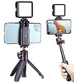 VIJIM Smartphone-Vlogging-Set, mit Mini-Stativ,