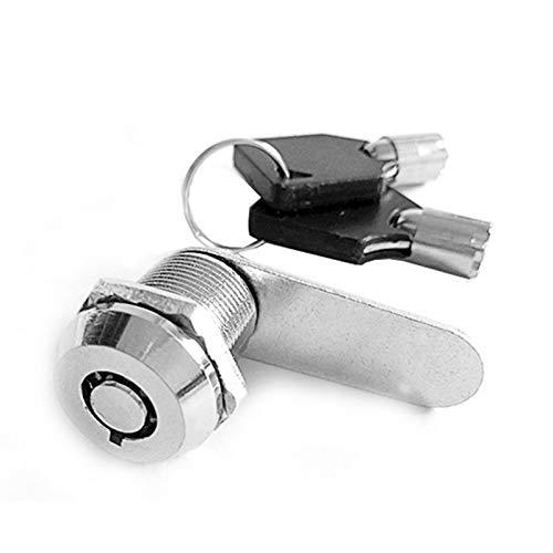 ZHOUCHENPQ Outils Verrouillage de Cylindre Armoire de la Porte Cadre de boîtier Padlock Tiroir Cabinet Serrure avec 2 clés pour Matériel de Meuble 103 Series (Color : M18 25)