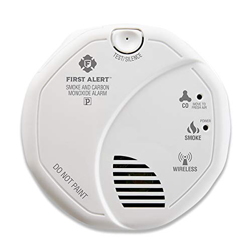 First Alert ZCOMBO 2-in-1 Smoke Detector & Carbon Monoxide Alarm, Z-Wave Combo