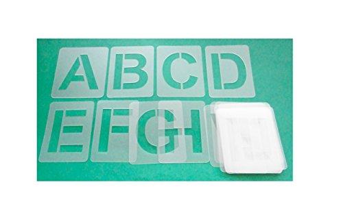 Buchstabenschablone Nr.04   1 Satz Buchstaben 5cm hoch   A-Z + 4 Sonderzeichen   30 einzelne Schablonen   Stencil   Wandschablone