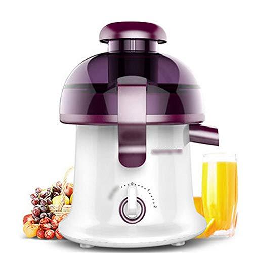 Entsafter Slow Juicer Saftpresse Home automatische Obst und Gemüse Multifunktions-Mini Mit Für Gemüse und Obst200W (Lila)