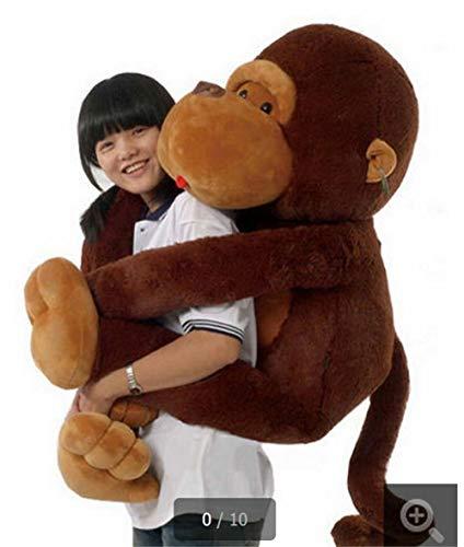CPFYZH Simpatico Peluche Grande Scimmia Marrone Peluche Morbido Gigante Bambola Animale Regalo per Bambini Giocattolo per bambini-70Cm