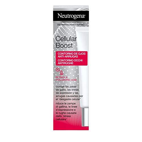 Neutrogena Cellular Boost Anti-Edad, Contorno De Ojos Anti-Arrugas Rejuvenecedor con Ácido Hialurónico y Retinol 1 Unidad 15 ml