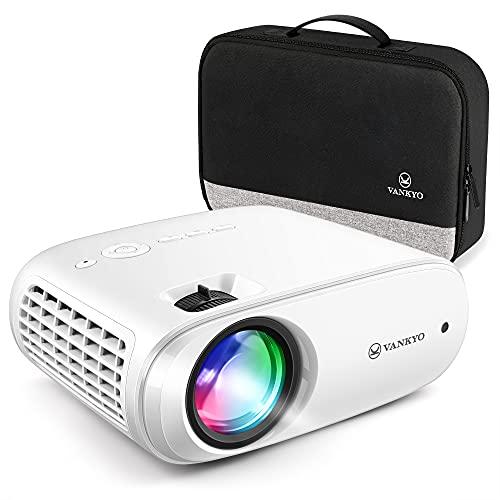 VAN KYO Cinemango 100P Native Projector 1080p Home Cinema Proyector con Bolsa portátil Compatible con TV Stick, iOS / Android Smartphone