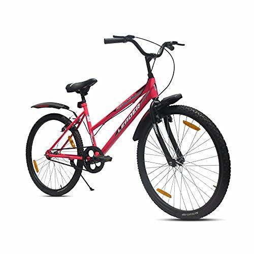 LEADER Urban Girl 26T City Bike Single Speed for Girls/Ladies | Fluro Pink/Black| Ideal for 12+ Years