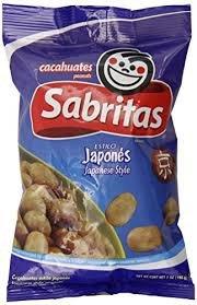 Sabritas Japanese Style Peanuts 7oz Bag (Pack of 6)