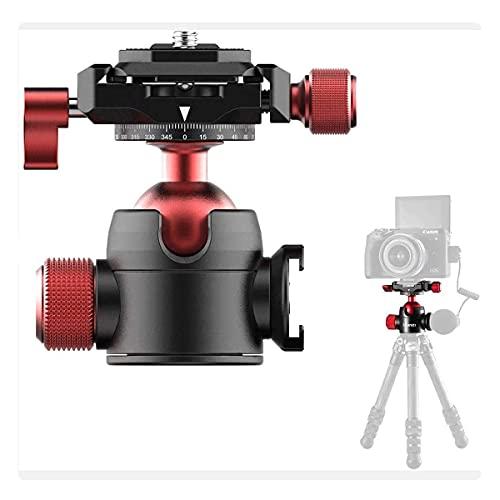 Testa a Sfera U70 del Treppiede, Testa a Sfera per Fotocamera con Arca Swiss, Cold Shoe Mount per il Microfono e la Luce Video, Carico utile 5Kg, Compatibile con 1/4'' Treppiede, 3/8'' Treppiede