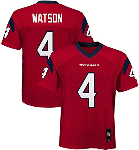 Outerstuff Deshaun Watson Houston Texans NFL Boys Youth 8-20 Red Alternate Mid-Tier Jersey (Youth Medium 10-12)