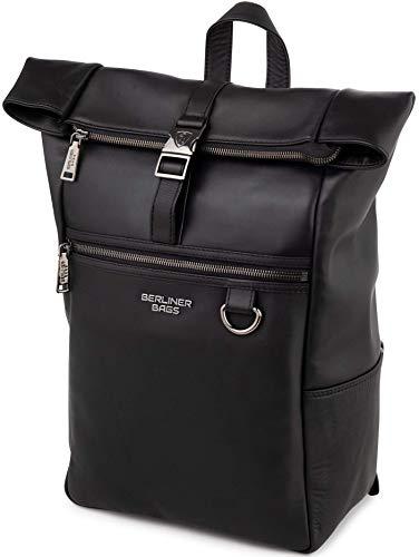 Berliner Bags Premium Rucksack Harlem aus Leder Kurierrucksack 14 Zoll