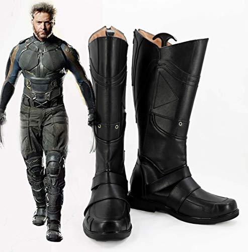 Marvel X-Men Cosplay Logan Hombres Botas Disfraz Prop Zapatos Hombres Mujeres Tamao personalizado 36