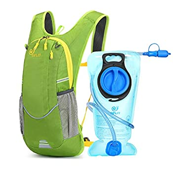 Opliy Hydration Pack,Hydration Backpack with 2L Hydration Bladder Lightweight Running Water Backpack for Women Men Kids  Green