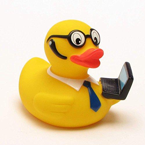 Badeente Lutz Laptop Workaholic Ente mit Headset