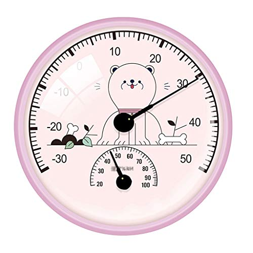 Thermomètre Thermomètre Cartoon Thermomètre et hygromètre salle de bains Thermomètre bureau intérieur bureau Hanging hygromètre Ménage température ambiante bébé et hygromètre Température et compteur d