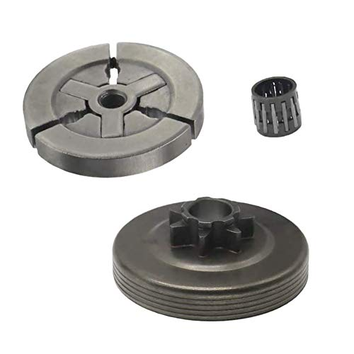 Clutch Drum & Needle Bearing for Chinese Chainsaw 4500 5200 5800 45cc 52cc 58cc