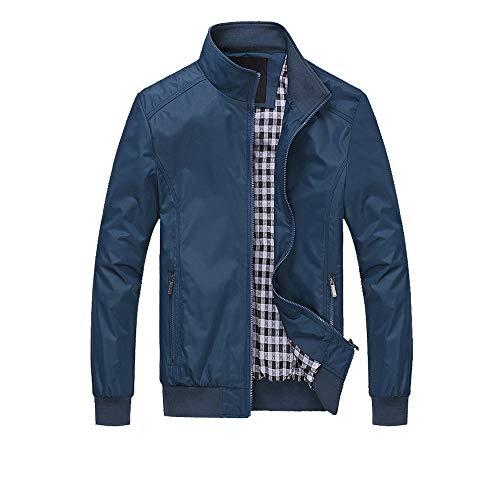 Herren Jacke MEIbax Männer Winter warme Mantel Outwear dünne Graben Reißverschluss Trenchcoat Mode Kurz Coat