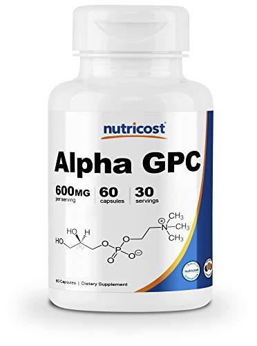 Nutricost Alpha GPC 300mg, 60 Capsules - Non-GMO and Gluten Free 600mg per Serving