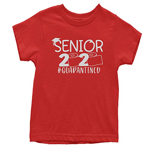 Youth Seniors 2020 Quarantined Toilet Paper T-Shirt X-Small Red