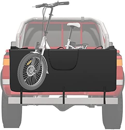 GJCrafts Tailgate Pad, Protezione per portellone posteriore per camion, con 5 cinghie di sicurezza per telaio della bicicletta, per bagagliaio e mountain bike