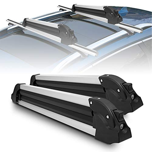 YITAMOTOR Ski Carrier Snowboard Rack, 27' Universal Aluminum Ski Snowboard Rack for Ski & Snowboard...