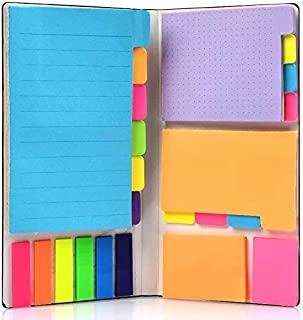 Super Sticky Notes by NEXCURIO - Super Glue, Bookmark, Prioritize and Set Goals with Color Coding, 60 Ruled (4x6), 48 Dott...