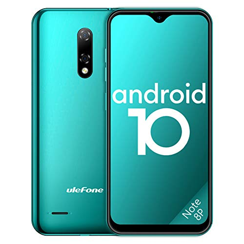 Ulefone Teléfono Móvil 2020, Note 8P Android 10 Smartphone Libre 16GB ROM (128GB SD), Pantalla 5.5' Water-Drop Screen...