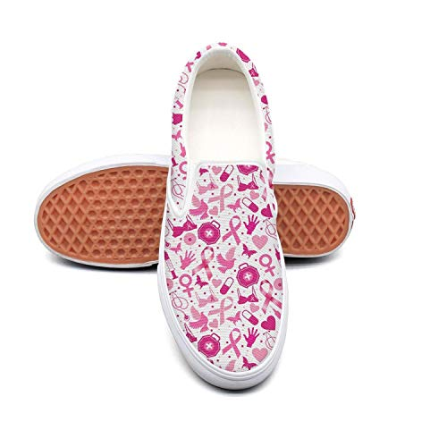 Breast cancer awareness white Tennis Shoes for Women nursing Comfortable and Lightweight Best Running Shoes