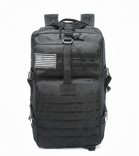 40L Military Tactical Backpack Molle Shoulder Bag Rucksack Assault Pack Daypack for Camping Trekking Hunting Fishing (BLACK)