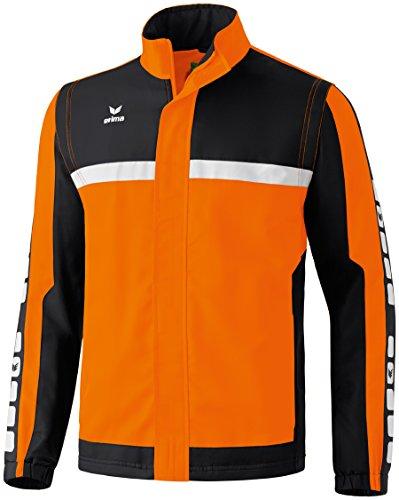Erima Kinder Classic 5-C Sportsjacke, orange/schwarz/weiß, 164