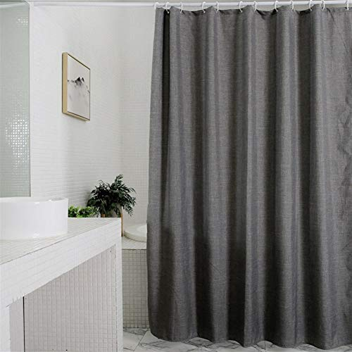 LGANY douchegordijn - polyester badscheidingswand met haken, schimmelbestendig en waterafstotend en milieuvriendelijk - grijs