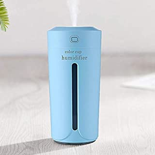 Air humidifier Eliminate Static Electricity Clean air Care for Skin Nano Spray Technology Mute Design 7 Color Lights car O...