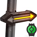 Luz Trasera para Bicicletas HAHAKEE Control Remoto Inalámbrico,Luz de Giro y Luz de...