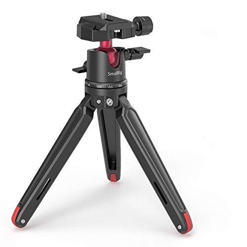 SMALLRIG Kamerastativ Leichtes Mini-Reisestativ aus Aluminium mit 1/4 Schraubbefestigung stativ für Smartphone,Canon/Sony/Nikon DSLR,GoPro - BUT2664